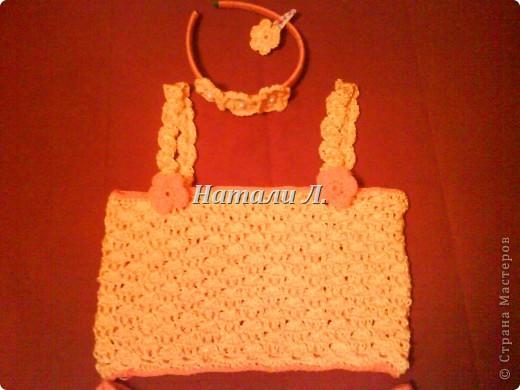 комплект для крестницы (юбка, топик, ободок, заколка) фото 3