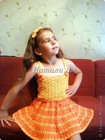 комплект для крестницы (юбка, топик, ободок, заколка) фото 1