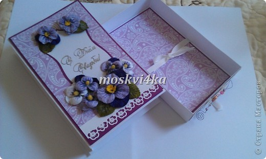 подарочная открытка/коробка на свадьбу фото 4