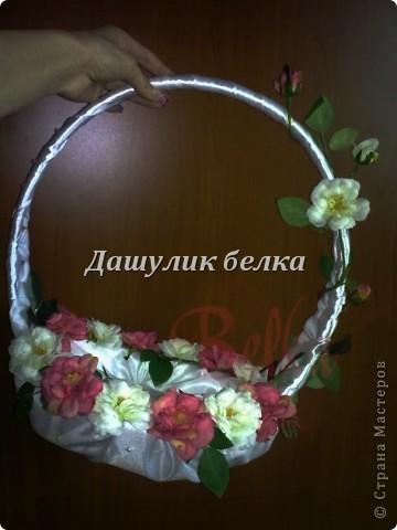корзиночка свадебная,и кулечек  для лепестков роз) фото 3