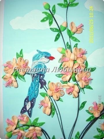 Очень понравилось делать птиц. Решила создать еще одну работу с птицами.Это подарок на юбилей одной замечательной женщине.  фото 2