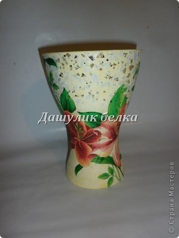 ваза в технике декупаж)