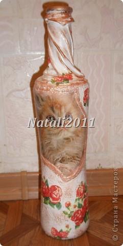 Здравствуйте дорогие мастерицы! Вот и я решила попробовать себя в оформление свадебных бутылочек! Получились у меня вот такие невесты. фото 9