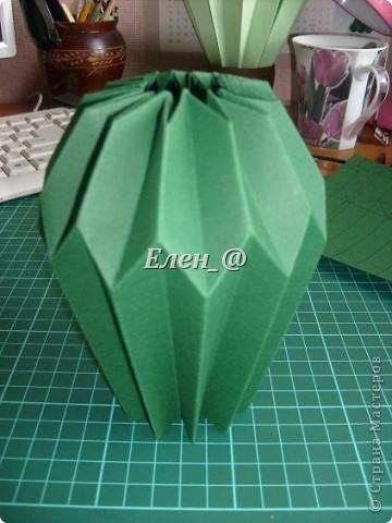 Вот такой кактус расцвел наконец у меня. Идея -не моя. В Хабаровском центре корейского бумажного творчества, которым руководит Софья Николаевна Баланюк я увидела другой кактус фото 8