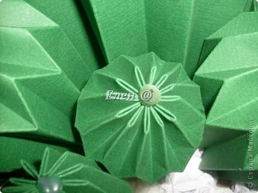 Вот такой кактус расцвел наконец у меня. Идея -не моя. В Хабаровском центре корейского бумажного творчества, которым руководит Софья Николаевна Баланюк я увидела другой кактус фото 10