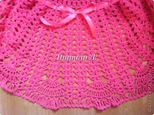 Розовый сарафон и шапочка фото 3