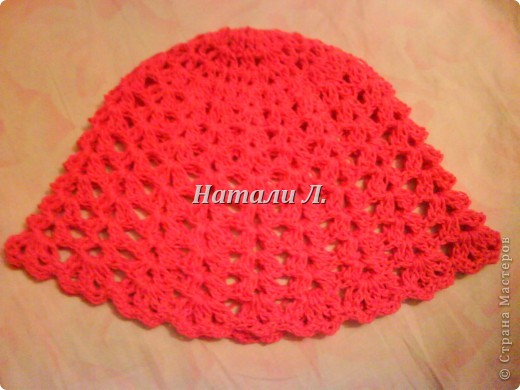 Розовый сарафон и шапочка фото 4