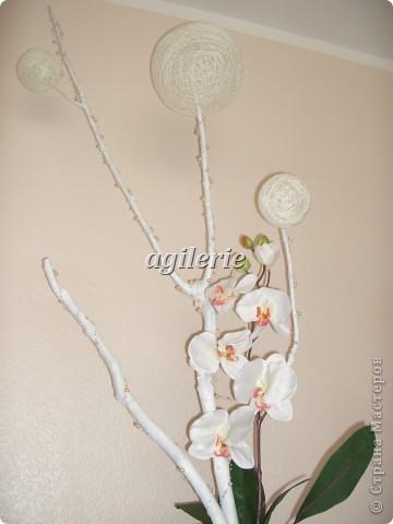 После декупажа и драпировки тканью моей вазы,я решила продолжить её декор! Вот что я сотворила) фото 6