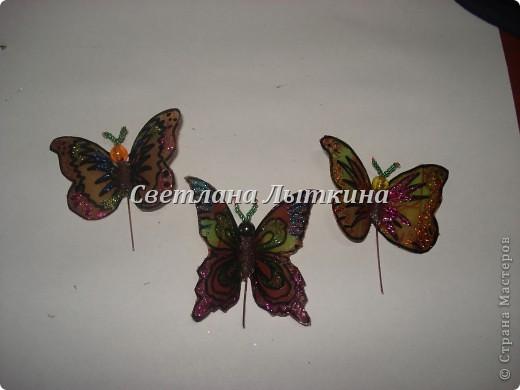 впервые увидела таких бабочек здесь http://by-hand.ru/item/view/3710 и решила себе сделать таких же прелестниц. Подробное описание как вырезать бабочек не буду повторять, а напишу лишь о своих изменениях. фото 6