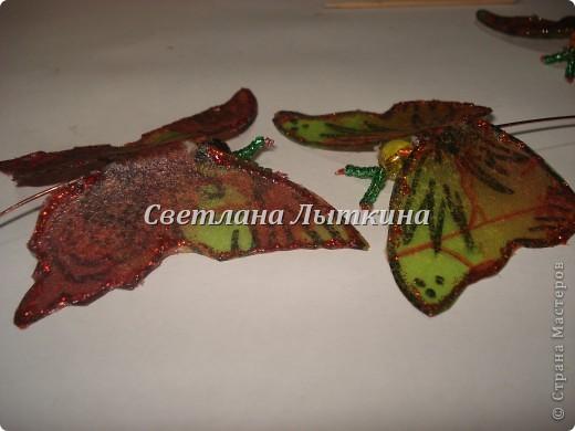 впервые увидела таких бабочек здесь http://by-hand.ru/item/view/3710 и решила себе сделать таких же прелестниц. Подробное описание как вырезать бабочек не буду повторять, а напишу лишь о своих изменениях. фото 3