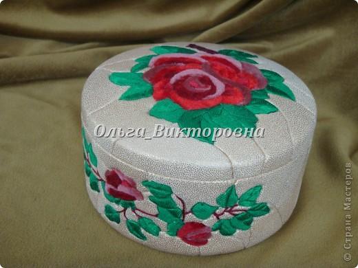 Шкатулка из пенопласта и ткани фото 2