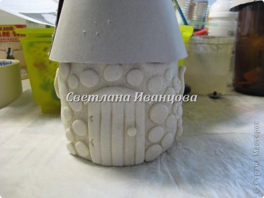 Здравствуйте все! Сегодня по Вашим просьбам делаем домик из солёного теста. Я замешивала тесто по рецепту Инны    http://stranamasterov.ru/node/87113  Спасибо, очень нравится! фото 10