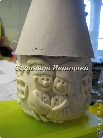 Здравствуйте все! Сегодня по Вашим просьбам делаем домик из солёного теста. Я замешивала тесто по рецепту Инны    http://stranamasterov.ru/node/87113  Спасибо, очень нравится! фото 12