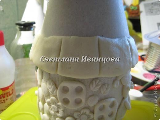 Здравствуйте все! Сегодня по Вашим просьбам делаем домик из солёного теста. Я замешивала тесто по рецепту Инны    http://stranamasterov.ru/node/87113  Спасибо, очень нравится! фото 18
