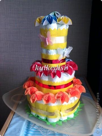 Поводом для создания такого тортика послужил день рождения младшей племянницы(ей скоро полгодика!). фото 1