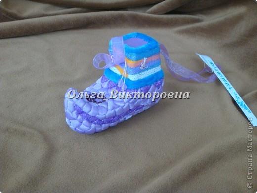 Елочные игрушки (из пенопласта и ткани) фото 4