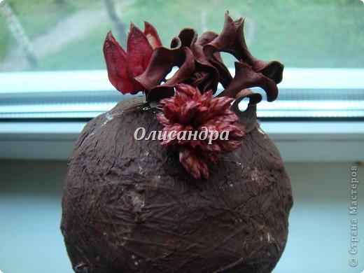 """Думаю, что Вы уже заметили...  """"Питаю слабость к деревьям""""...:)) , в том числе к топиариям...  По-моему, так называются эти миниатюрные деревца... Решила сделать на день рождения подруге ...в дополнение к подарку... фото 10"""