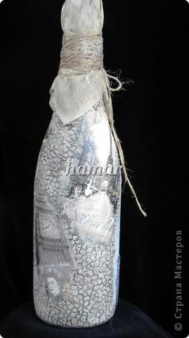 Готовлю подарки для поздравления с днем рождения. Это для девушки.Грунтовала водоэмульсионной краской.Салфетка ,яичная скорлупа,льняная ткань для декора пробки и шпагат. фото 5