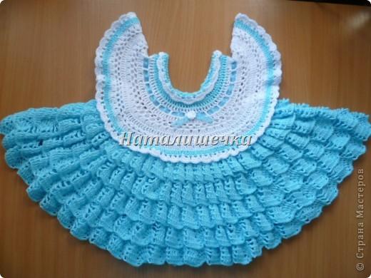 платье детское крючком фото 1