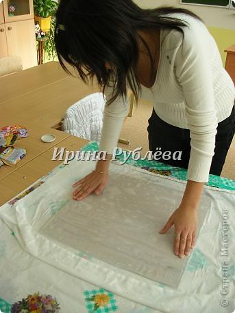 """Это работа моей ученицы Ясмины Валевац. Декоративное панно """"Дятел"""". Выполнено из пшена, коры и чая.  фото 2"""
