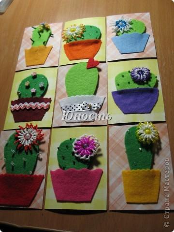 Спасибо огромное Машеньке (Бригантина) за МК по цветочкам http://stranamasterov.ru/node/207218, именно они сподвигли меня на эту цветущую коллекцию!!! Машенька выбирай, если какой-то из кактусят приглянулся. фото 1