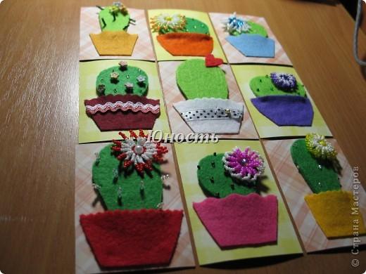 Спасибо огромное Машеньке (Бригантина) за МК по цветочкам http://stranamasterov.ru/node/207218, именно они сподвигли меня на эту цветущую коллекцию!!! Машенька выбирай, если какой-то из кактусят приглянулся. фото 22