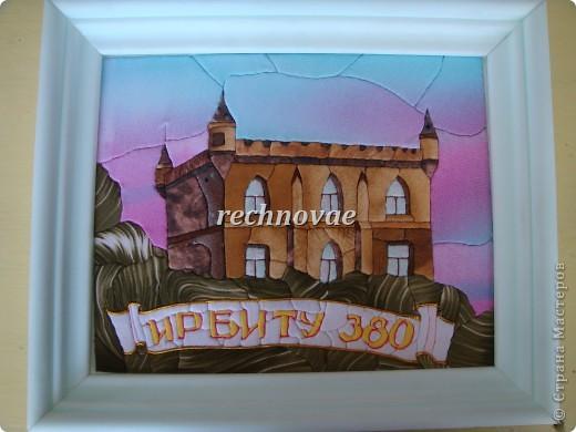 В 2011 году городу Ирбиту Свердловской области исполняется 380 лет...  В связи с этим знаменательным событием  я решила создать серию картин-панно из ткани и пенопласта с изображением памятников архитектуры нашего города.
