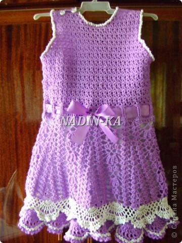 Здравствуйте, Мастерицы! Как ни странно, но это мое первое детское платье. Спасибо всем, кто показывает свои работы. Они послужили мне источником вдохновения.  Такое платьице я связала знакомой девчушке на день рождения. фото 13