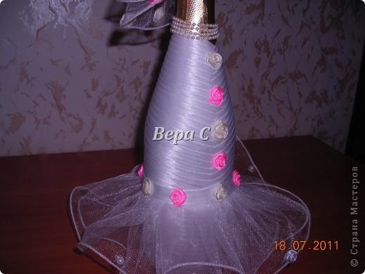 Благодаря здесь описанию, как делаются свадебные бутылки http://stranamasterov.ru/node/209850?c=favorite , я смогла  сотворить такое чудо на заказ. фото 6