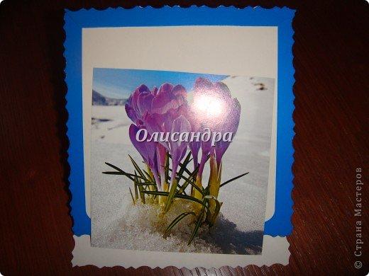 """У всех лето, а у меня это... :)) Подозреваю, что слегка перегрелась, потому что ничем другим не могу объяснить зимнюю открытку ,созданную в это время года... Ну, разве что """"готовь сани летом""""... Тоже подходит... Хотя, не собиралась...Но сделала, поэтому рассказываю и показываю... Вдруг, кому-то интересен процесс... фото 3"""