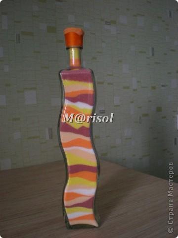 Моя первая бутылочка с солью. Огромное спасибо Kukushechkе за очень подробный и понятный МК! Вот только соль я сушила в микроволновке. Гораздо проще и быстрее.