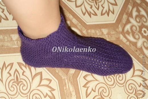 Вот такие вот носочки крючком связались :) фото 3