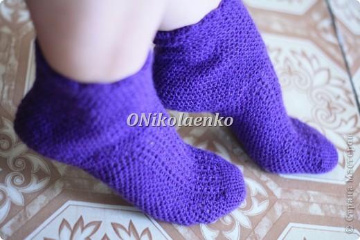 Вот такие вот носочки крючком связались :) фото 2