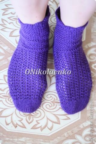 Вот такие вот носочки крючком связались :) фото 1