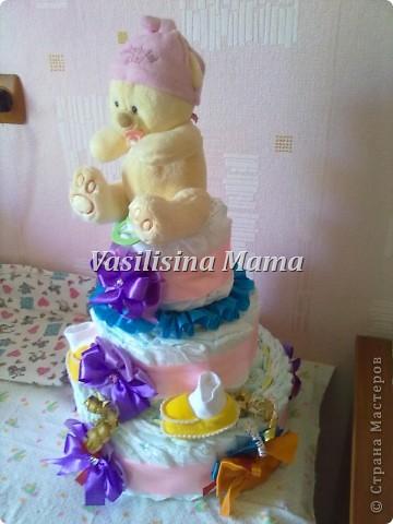 Мой первый опыт тортика из памперсов фото 2