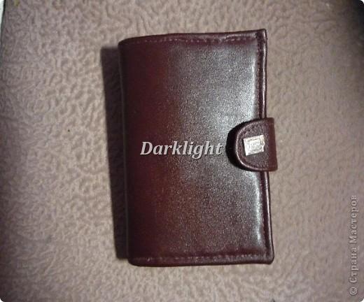 Кожаное портмоне фото 1