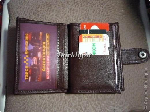 Кожаное портмоне фото 2