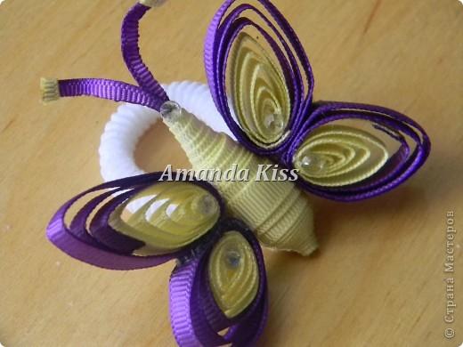 Бабочка из лент в технике квиллинг фото 1