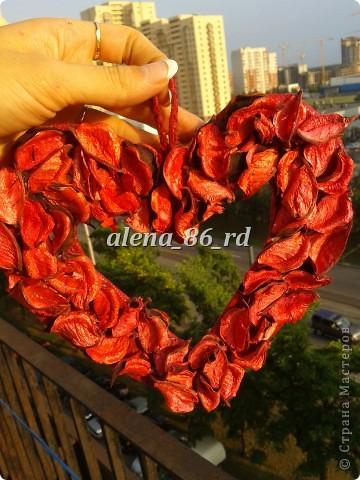 Вот такое яркое и страстное сердце я сделала! Подойдет как подарок на День Св.Валентина или просто как знак внимания любимому человку. фото 11