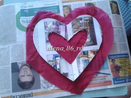 Вот такое яркое и страстное сердце я сделала! Подойдет как подарок на День Св.Валентина или просто как знак внимания любимому человку. фото 5
