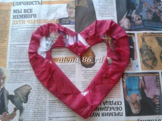 Вот такое яркое и страстное сердце я сделала! Подойдет как подарок на День Св.Валентина или просто как знак внимания любимому человку. фото 6