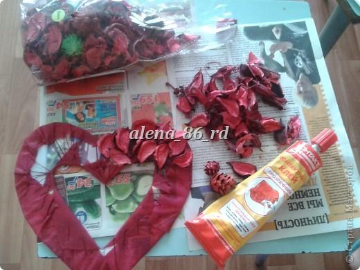 Вот такое яркое и страстное сердце я сделала! Подойдет как подарок на День Св.Валентина или просто как знак внимания любимому человку. фото 8