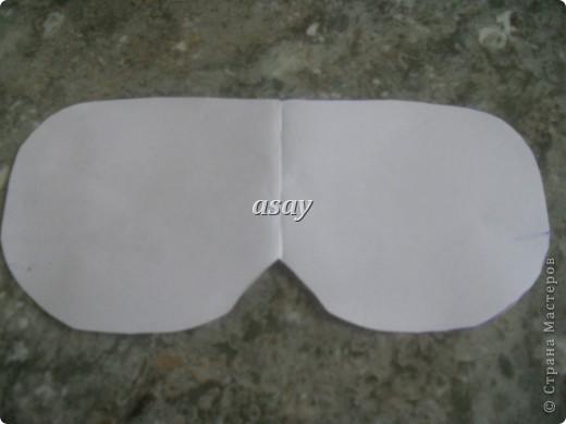 очки для сна из ткани фото 2