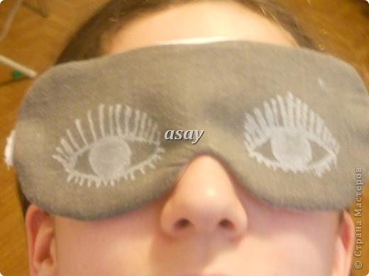 очки для сна из ткани фото 1
