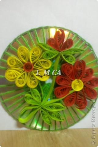 цветочки на диске