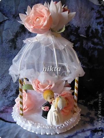 Подарок молодоженам - свадебная беседка фото 5