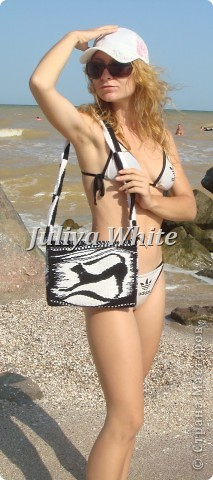 "Тканая сумка ""blaсk and white"" фото 6"