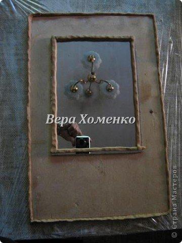 Очень вдохновили меня листочки Alevtinushka. Благодаря этому возникла идея оформить дачное зеркало гипсовыми листьями. фото 5