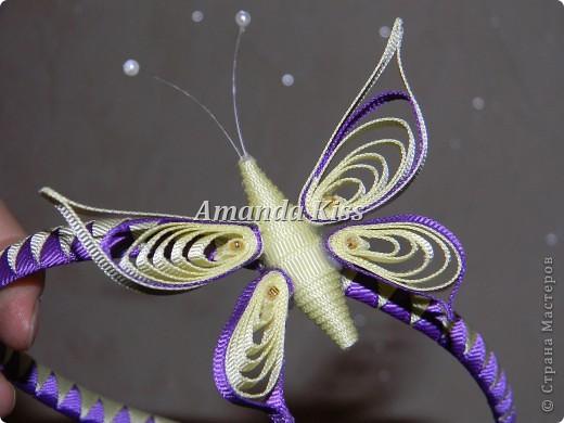 Бабочка из лент в технике квиллинг фото 2