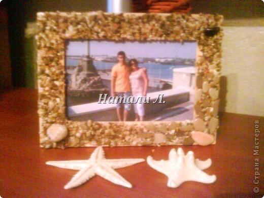 Рамки (декор из камней) воспоминание об отпуске фото 1